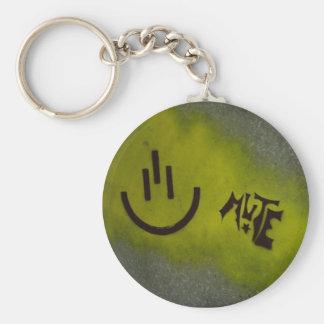 Mute Keyrings Basic Round Button Keychain