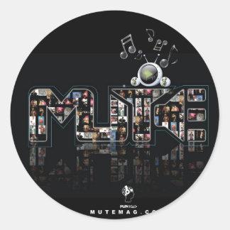 Mute Media LLC Classic Round Sticker