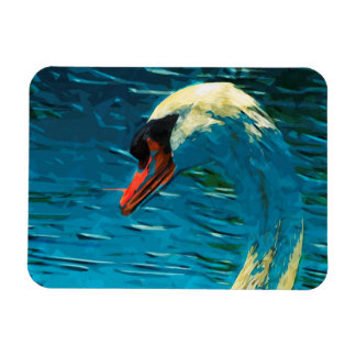 Mute Swan Abstract Impressionism Magnet