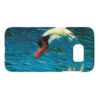 Mute Swan Abstract Impressionism Samsung Galaxy S7 Case