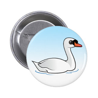 Mute Swan Pinback Button