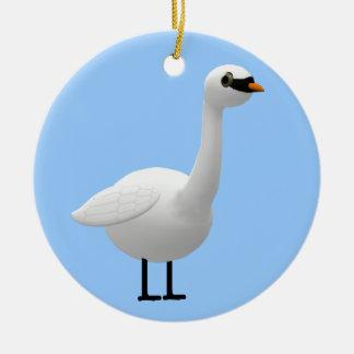 Mute Swan Ceramic Ornament