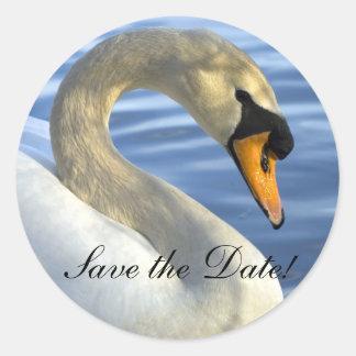 Mute Swan Classic Round Sticker