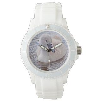 Mute Swan Cygnet Wrist Watches