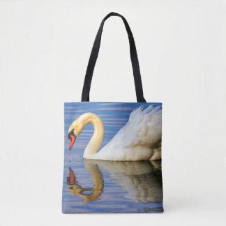 Mute swan, cygnus olor tote bag