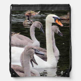 Mute Swan Family Backpack