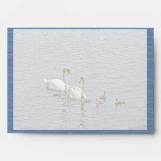 Mute Swan Famly Envelope