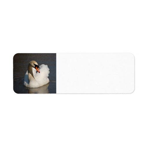 Mute Swan Custom Return Address Label