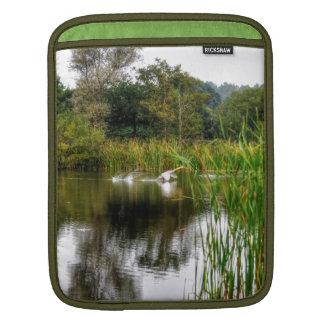 Mute Swan & Lake Hampshire, England Nature Scene iPad Sleeve