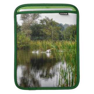 Mute Swan & Lake Hampshire, England Nature Scene Sleeve For iPads