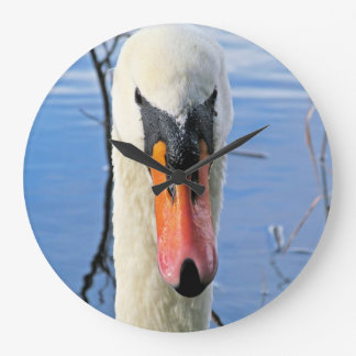 Mute Swan Large Clock