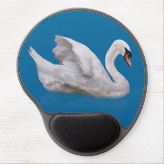 Mute Swan on Blue Gel Mouse Pad