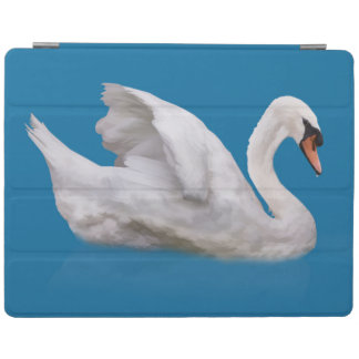 Mute Swan on Blue iPad Cover