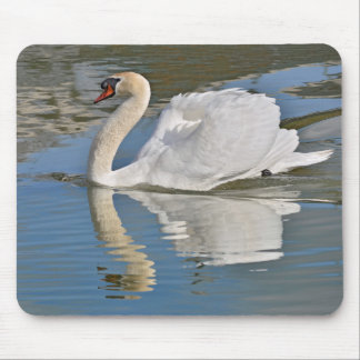 Mute swan on water mouse pad