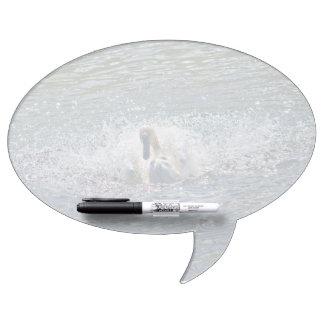 Mute Swan Preening in Sunlit Lake Waters Dry-Erase Board