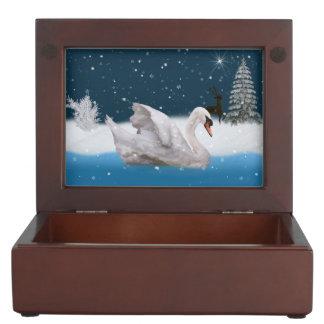 Mute Swan Reversible Keepsake Box