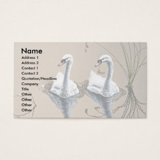 Mute swans business card