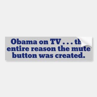 Mute The TV Car Bumper Sticker