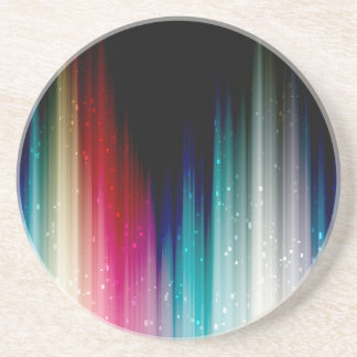 Muted Abstract Rainbow Coaster