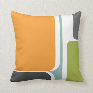 muted abstract retro color block art geometric pillow