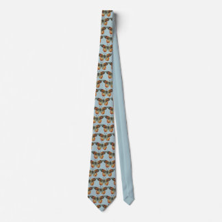 Muted autumn Colored Monarch Butterflies on Blue Tie