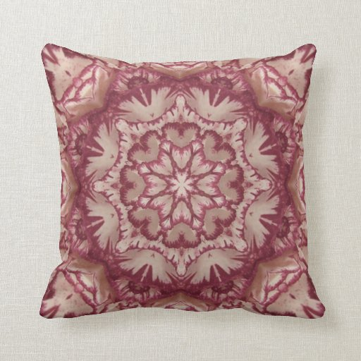Victorian Floral Pillows : Muted Burgundy and Ivory Victorian Floral Pillow Zazzle