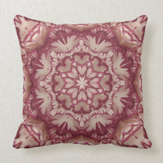 Muted Burgundy and Ivory Victorian Floral Throw Pillow