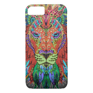 Muted-Color Lion iPhone 7 Case