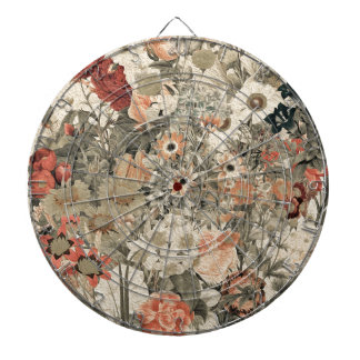 Muted Colors flower collage Dartboard
