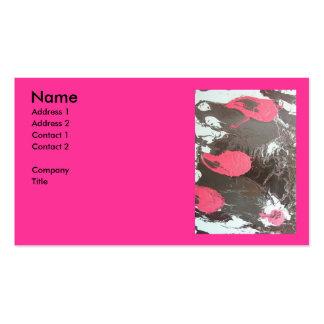 Muted Drip Orbs Business Card