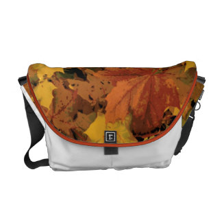Muted Fall Leaves Messanger Bag