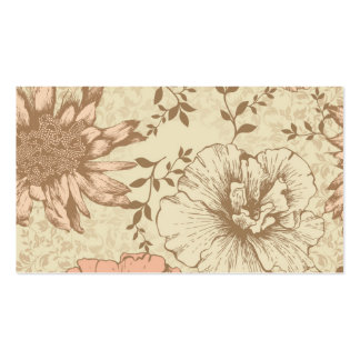 Muted Floral Business Cards