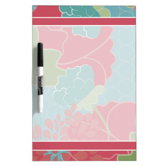 Muted Floral Dry Erase Board
