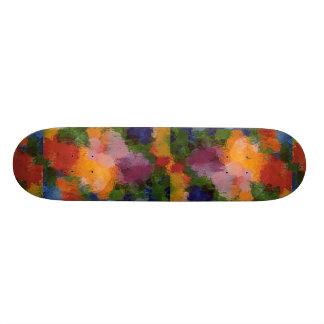 Muted flower pattern texture skateboard