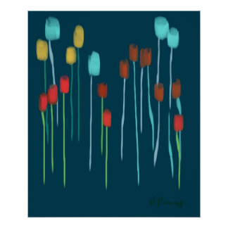 """MUTED FLOWERS"" POSTERS"