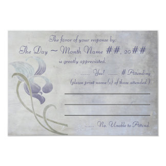 Muted Iris - Chinese Blessings (RSVP) Card