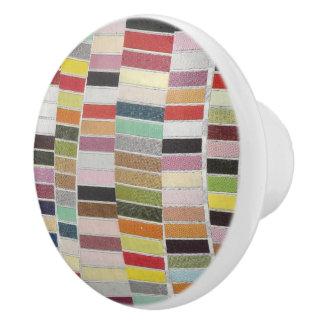 Muted Multicolor Swatches Ceramic Knob