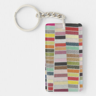 Muted Multicolor Swatches Keychain