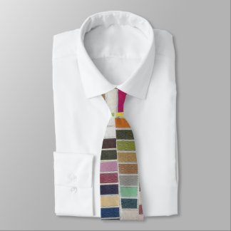 Muted Multicolor Swatches Neck Tie
