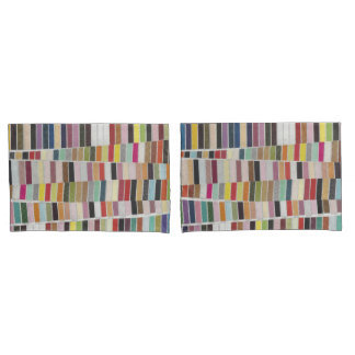 Muted Multicolor Swatches Pillow Case