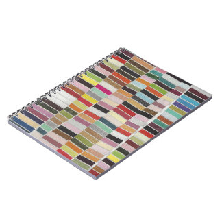 Muted Multicolor Swatches Spiral Notebook