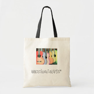 Muted Multicolored Guitars Tote Bags