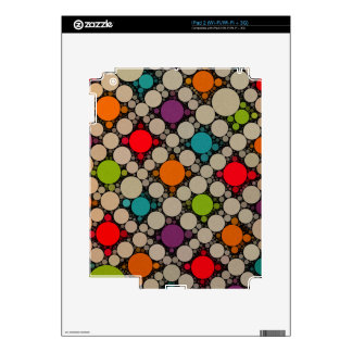 Muted Neon Modern Polka Dots Skins For The iPad 2