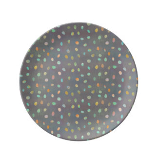 Muted Nuggets Porcelain Plates