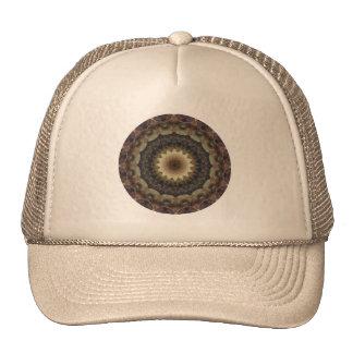Muted Pastel Seashells Mandala Kaleidoscope Trucker Hat