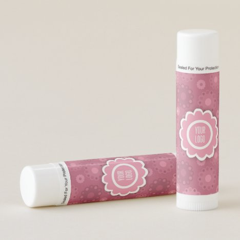 Muted pink funky florals lip balm
