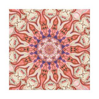 Muted Pinks Mandala Canvas Print