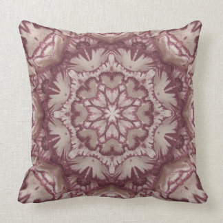 Muted Plum and Ivory Victorian Floral Throw Pillow