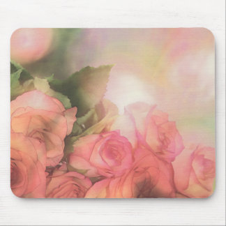 Muted Roses Peach n Pink Mousepad