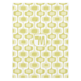 Muted Yellow Abstract Squares Pattern Tablecloth